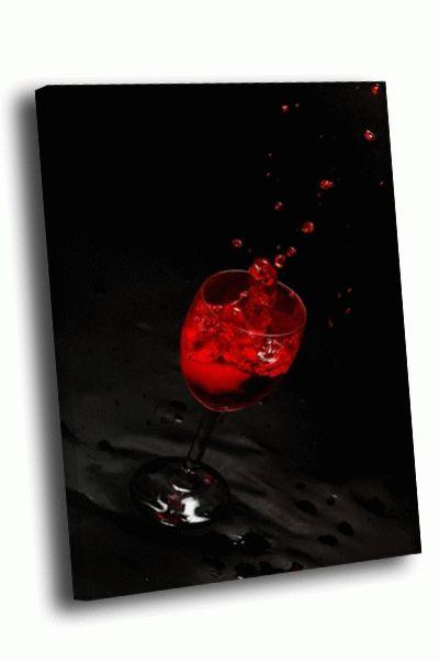 Картина сок в бокале