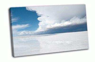 Картина соляная равнина салар-де-уюни