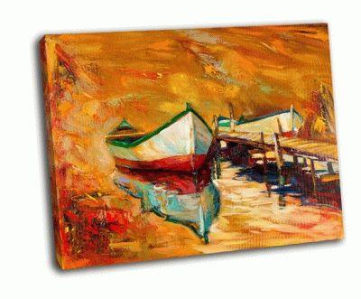 Картина современный импрессионизм-закат над океаном