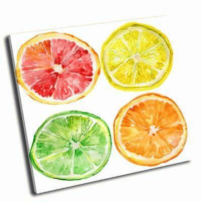 Картина спелые фрукты