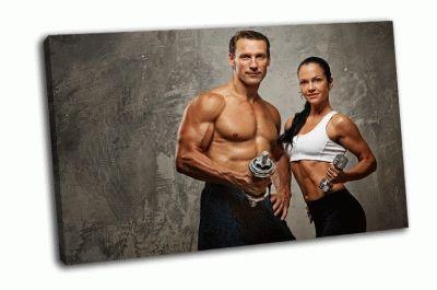 Картина спортивные мужчина и женщина