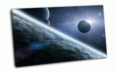 Картина спутник и звезда