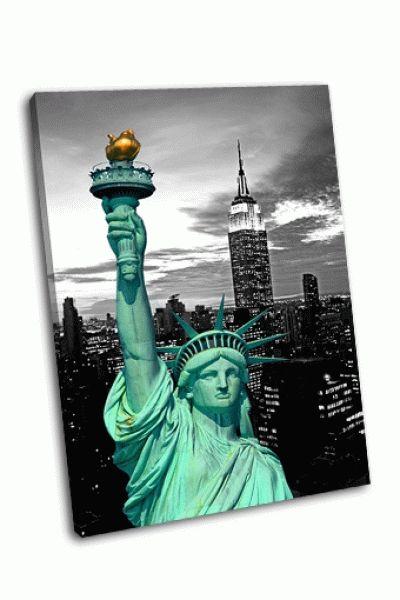 Картина статуя свободы и нью-йорк