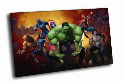 Картина супергерои комиксов