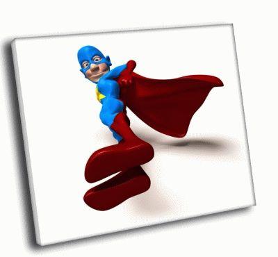Картина супергерой в плаще