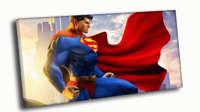 Картина супермен на рассвете