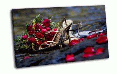 Картина свадебный букет