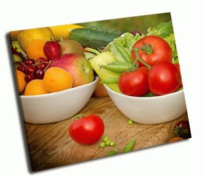Картина свежие фрукты и овощи