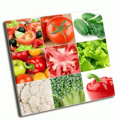Картина свежие овощи