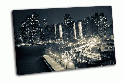 Картина световой поток в нью-йорке