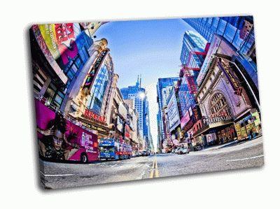 Картина таймс-сквер и 42-я улица