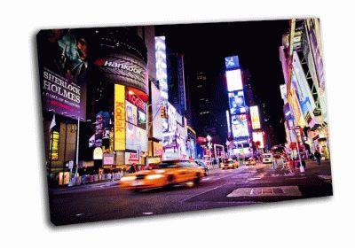Картина таймс-сквер ночью