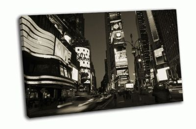 Картина таймс-сквер, огни манхэттена