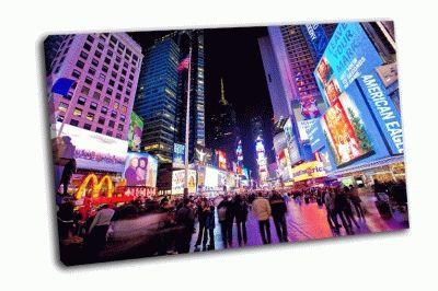 Картина таймс-сквер вечернее время