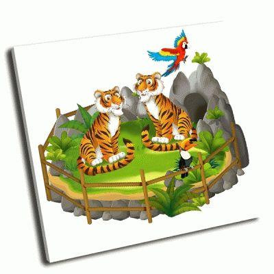 Картина тигры мултфилма сафари
