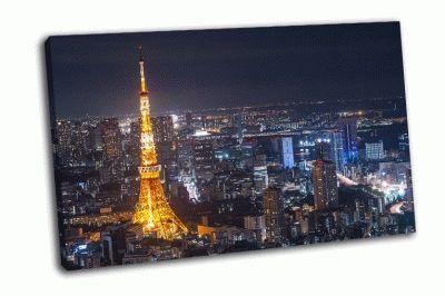 Картина токийская башня в токио