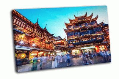 Картина торговая площадь в шанхае