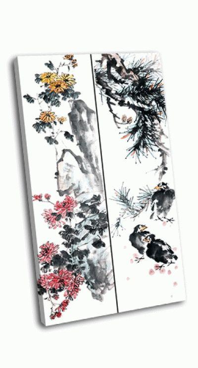 Картина традициональная китайская живопись