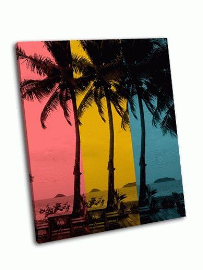Картина три цвета кокосовой пальмы