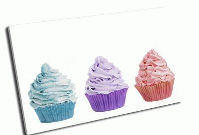 Картина три цветных кекса