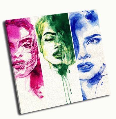 Картина три женских лица