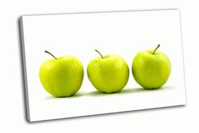 Картина три зеленых яблока