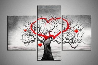 Картина триптих дерево любви