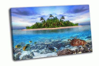 Картина тропические острова мальдивы