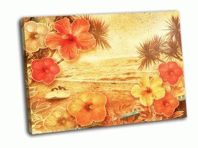 Картина тропический пляж