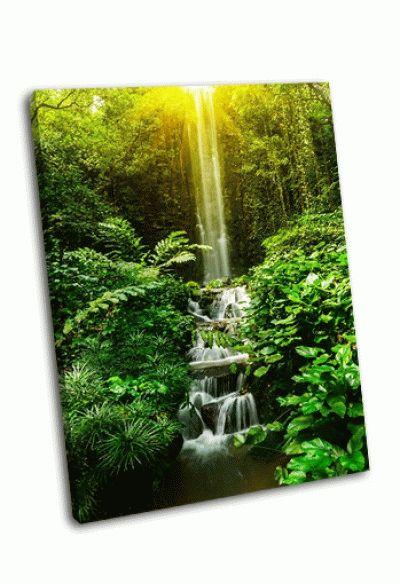 Картина тропический водопад