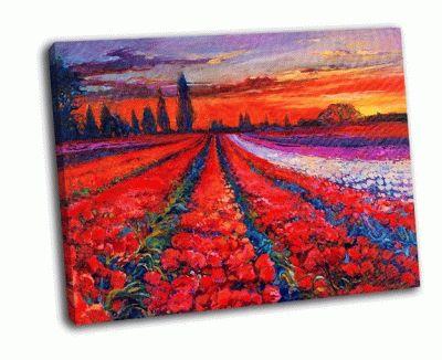 Картина тульское маковое поле