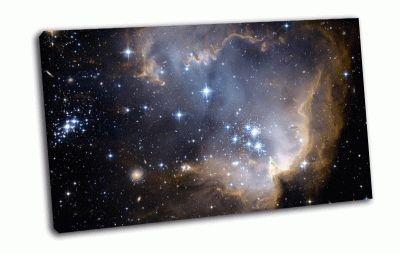 Картина туманность в космосе