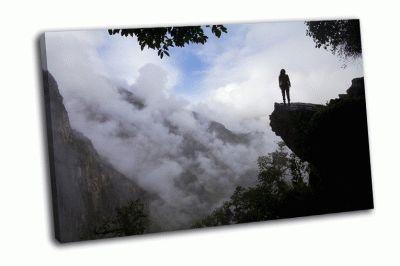 Картина турист вблизи мачу-пикчу, перу