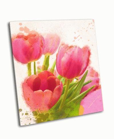 Картина тюльпаны акварелью