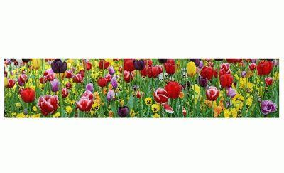 Картина тюльпаны и фиалки