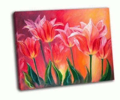 Картина тюльпаны на холсте