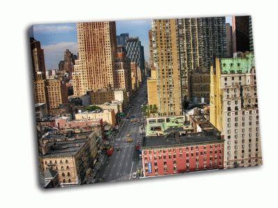 Картина улицы города, манхэттен