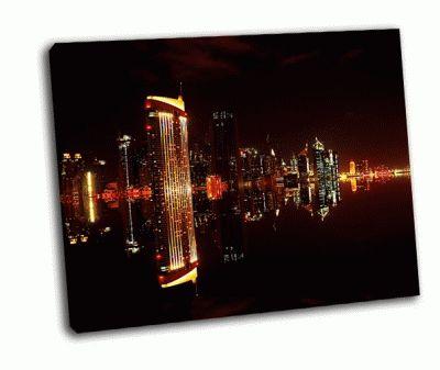 Картина в центре города дубая ночью