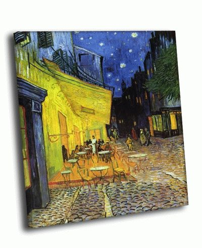 Картина ван гог - ночная терраса кафе (1888)