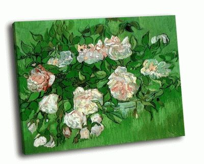 Картина ван гог - розовые розы