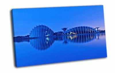 Картина вечер в сингапуре