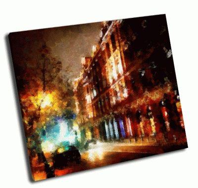 Картина вечерний городской пейзаж