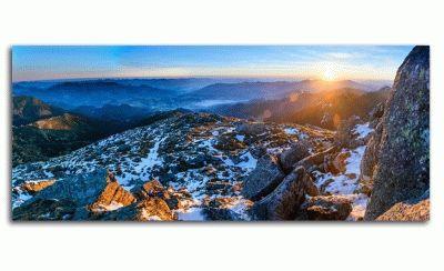 Картина великолепная панорама восход