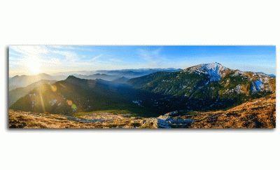 Картина великолепная панорама восход в горох