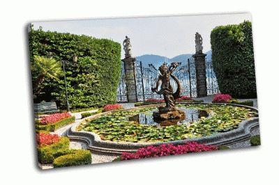 Картина великолепный парк с фонтанами