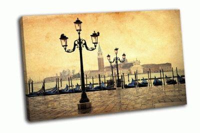 Картина венеция с гондолами