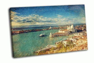 Картина венеция с птичьего полета