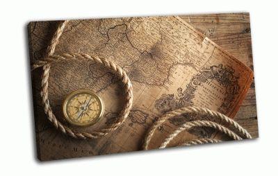 Картина веревка, компас
