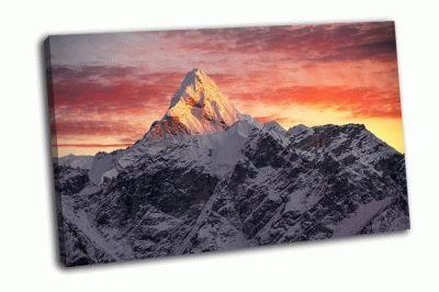 Картина вершина ама-даблам в гималаях