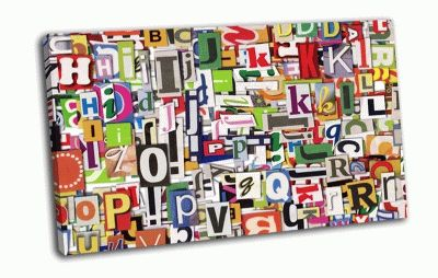 Картина веселые буквы